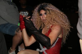 Drag Queen performs in Its 1109.